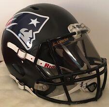 New England Patriots Full Size Riddell Speed Custom Football Helmet W/ Visor