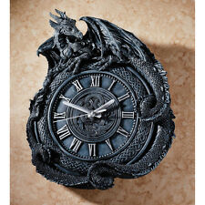 Celtic Knotwork Medieval Perched Dragon Decorative Roman Numeral Wall Clock