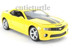 Maisto 2010 Chevrolet Camaro SS RS 1:24 Diecast Toy Car 34207 Yellow