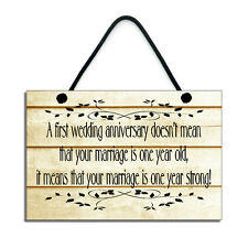A first Wedding Anniversary Gift Handmade Wooden Home Sign/Plaque 141