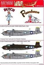 Kits World Decals 1/48 B-25H MITCHELL Bomber Dutch & Powerhouse
