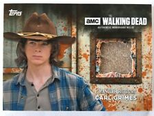 The WALKING DEAD Chandler Riggs as CARL GRIMES RUST Shirt Relic Costume Card /99