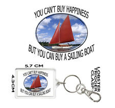 SAILING BOAT GIFT KEYRING You Can't Buy Happiness But You Can Buy A SAILING BOAT