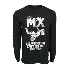 MX MOTO MOTOR CROSS BECAUSE DRUGS CANT GET YOU THIS HIGH MENS T SHIRT