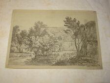 Alexis Nicolas PERIGNON (NANCY 1726-1782) GRAVURE XVIII PAYSAGE ANIME LORRAINE e