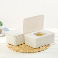 AU_ Tissue Storage Box Case Wet Wipes Dispenser Holder with Lid for Home Office
