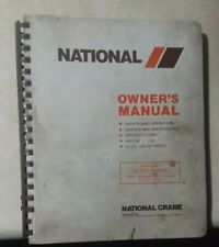 National Crane Series 4 owners manual ,safety & operation, parts & maintenance
