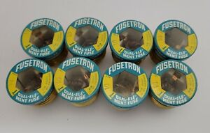 (8) NOS Buss FUSETRON Type T 10 Amp Fuse Dual Element Time Delay Fuse Screw