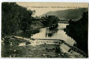 CPA 39 Jura Champagnole Premier Barrage sur l'Ain et Vue de Cize