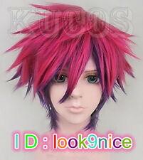 No Game No Life Sora Short Anime Cosplay Costume Full Wig