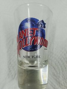 "New Never Used Planet Hollywood New York Shot Glass 3 1/2"" Tall Souvenir"