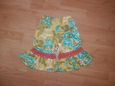 Persnickety Girls Size 3 Years Floral 100% Cotton Flare Boho Pants Trousers 3504