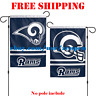 "Los Angeles Rams Logo Garden Outdoor Flag Double Sides 12x18"" NFL 2019 Fan NEW"