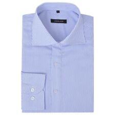 vidaXL Camisa Vestir Hombre con Rayas Corte Slim-Fit Diferentes Colores/Tallas
