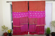 Indian curtain Boho curtain sari curtain vintage saree hippy gypsy curtain SB87