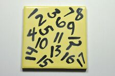 Counting Numbers ceramic tile