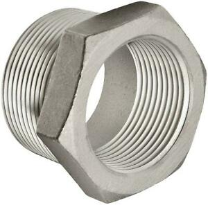 """3/8"""" M X 1/4"""" F 316 Stainless Steel Pipe Bushing 27 Pieces"""