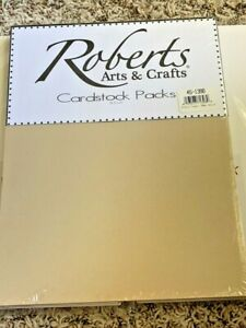"Roberts Crafts Cardstock Pack 8.5"" x 11"" Fossil Brown 50 pk New"