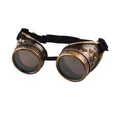 Cyber Goggles Steampunk nail Glasses Vintage Retro Welding Punk Gothi SL