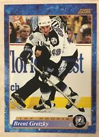 BRENT GRETZKY 1993-94 Score Hockey French  #606 Rookie Card RC LIGHTNING