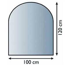 Glasbodenplatte 6 mm Halbrund 100 x 120 OHNE FASE Kaminplatte Funkenschutz Ofen