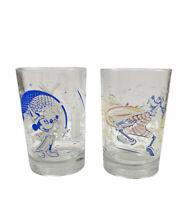 Walt Disney Glass World Remember the Magic McDonald's 25th Anniversary Set of 2
