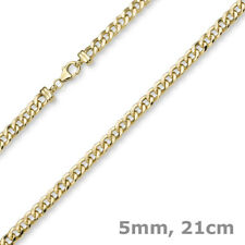 5mm Armband Panzerkette Armkette aus 585 Gold Gelbgold glänzend 21cm Armschmuck