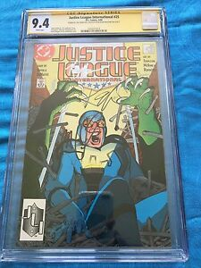 Justice League (1987) #25 -DC - CGC SS 9.4 -Signed by Maguire, Giffen, DeMatteis