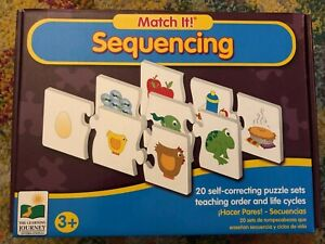 Match It! Sequencing The Learning Journey Self Correcting Puzzle Children 3+