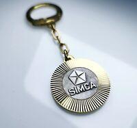 Original 1969 SIMCA Schlüsselanhänger Lüfterrad Anhänger Diamantschliff Metall