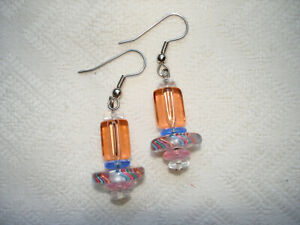 Furnace Glass Cane handcrafted Earrings