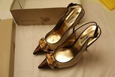 Brand New Ladies DUNE Size 37 KOFFEE Slingback Toe heels  #M2