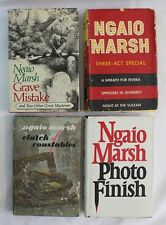Ngaio Marsh Lot of 4 Hardcover Book Club Edition BCE Grave Mistake Three-Act +