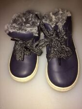 Faux Leather Slip - on Baby Boots
