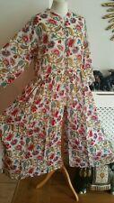 FAB East Anokhi Indian Print Cotton Dress Smock Boho Folk L = 16 18