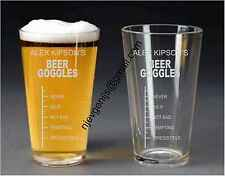 Personalised Engraved Beer Goggles Pint Glass Birthday Party Gift by jevge 17