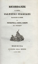 Ricordanze di trenta illustri italiani. Gorini. Tip. della Minerva. 1839. MC3.6