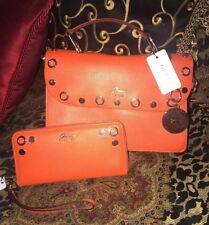 Guess Women's 2 Piece Tangerine Handbag Purse & Wallet NWT MSRP $168