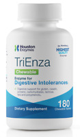 Houston Enzymes TriEnza with DPP IV Activity | 180 Chewables Digestive Enzyme