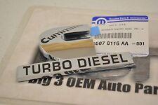 2006-2010 Dodge Ram 2500 3500 Cummins Turbo Diesel Chrome Fender Emblem new OEM