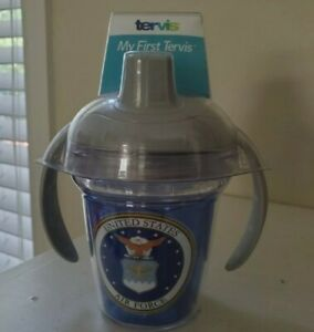 Tervis Tumblers Baby My First Tervis Sippy Cup Future Pilot US Air Force New!