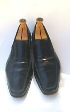 Prada Men's Solid Black Perforated Slip on Loafer Shoe Size 10