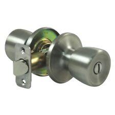 Door Knob Privacy Lock Foreclosure Flipper Bedroom Bathroom Construction Silver