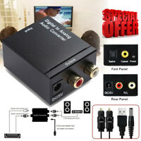 Optical Coaxial Toslink Digital to Analog Converter RCA L/R Stereo Audio Adapter