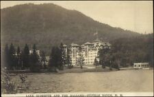 Dixville Notch NH White Mountains Lake Gloriette & Balsams Hotel RPPC c1920
