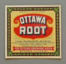 Ottawa Root label from The Ottawa Brewing Assn, Ottawa, Il