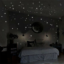 400pcs Luminous Glow In The Dark Star Round Dot Wall Stickers Home Ceiling Decor