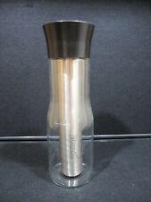 Metrokane Houdini Wine Chiller Cooler Carafe Stainless Steel Crystal