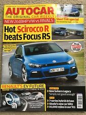 Autocar magazine 4 November 2009 - Scirocco R, Subaru Legacy, Clio 200
