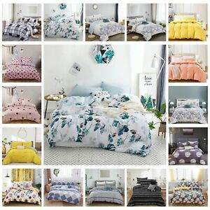 100% Pure Cotton Bedding 2021 New All Size Bed Linen Doona Quilt Duvet Cover Set